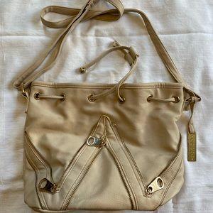 Cesca Ivory Drawstring Bag